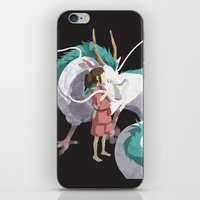 spirited away iPhone & iPod Skins featuring Spirited Away by Sharna Myers