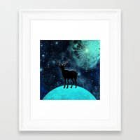 walk the moon Framed Art Prints featuring Moon walk by North 10 Creations