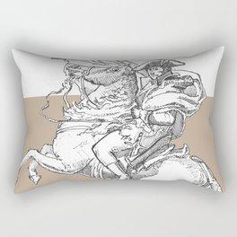 Riders of an art Rectangular Pillow