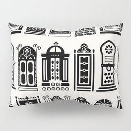 Moroccan Doors – Black Palette Pillow Sham