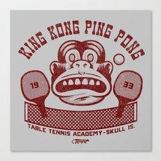 King Kong Ping Pong Canvas Print
