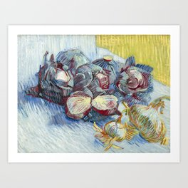 Vincent van Gogh - Red cabbages and onions Art Print