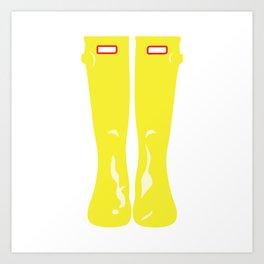 Yellow Rainboots Art Print