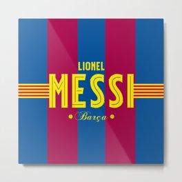 Lionel of Barça Metal Print