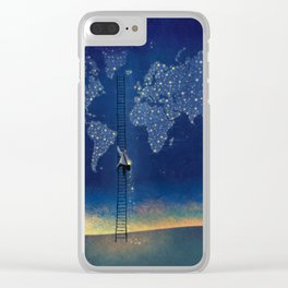 Stars World Clear iPhone Case