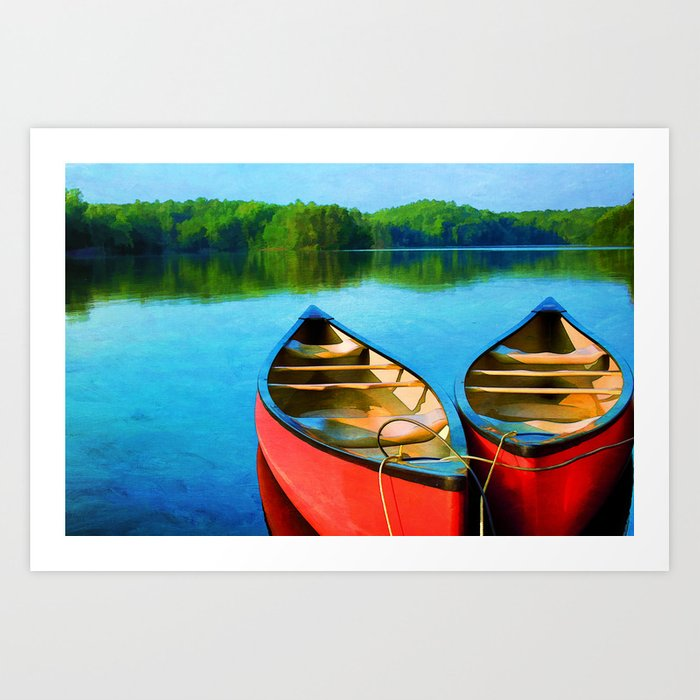 A Day on the Lake Art Print