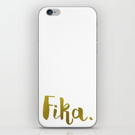 Golden fika iPhone Skin