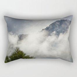 Sunrise at the mountains. Square. Foggy Autumn dreams Rectangular Pillow