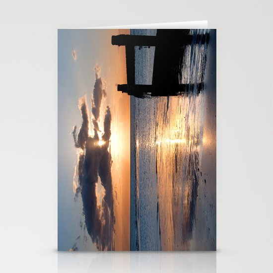 Trickle of light. Stationery Cards