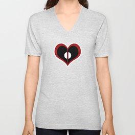 Deadpool Heart Unisex V-Neck