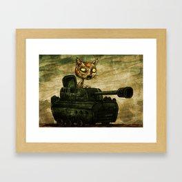 Tank Cat Framed Art Print