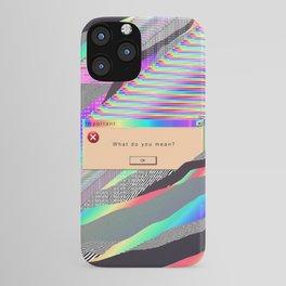 Error Tab Vaporwave iPhone Case
