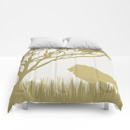 Lion on the Plains Comforters