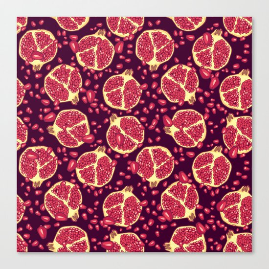 Pomegranate pattern. Canvas Print