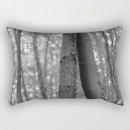 Old love, black and white photography trees Rectangular Pillow