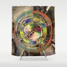 - mechanical sun - Shower Curtain