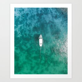 Turquoise Tropical Ocean Art Print