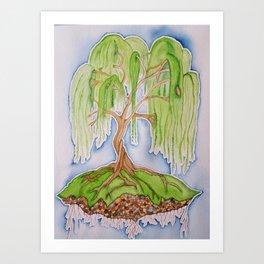 Wisdom of the Willow Tree Art Print