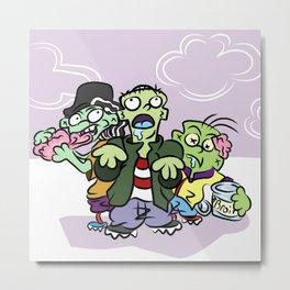 Zombie Ed Boys Metal Print