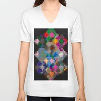 building V-neck T-shirts featuring Building Blocks by Fine2art
