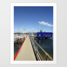 Pier at Lakes Entrance Art Print