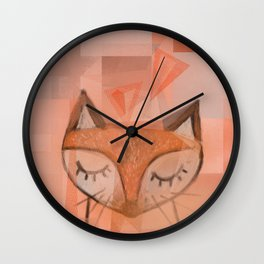 The fox Wall Clock