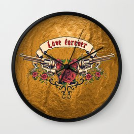 Love forever - Roses Wall Clock