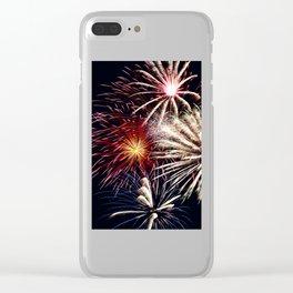 celebration fireworks Clear iPhone Case