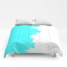 Shiny Turquoise balance Comforters