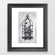 Fetus Cage Framed Art Print