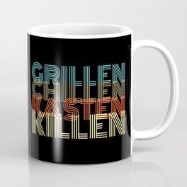 Grillen Chillen Kasten Killen Vintage Retro Coffee Mug