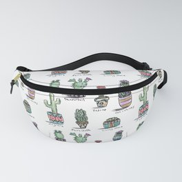 Cactus and Succulent Pattern Fanny Pack