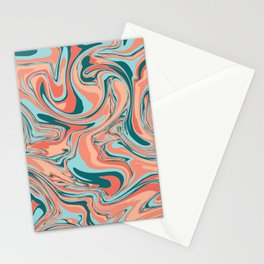 Marbel Effect Multiple Shades Mixup Stationery Cards