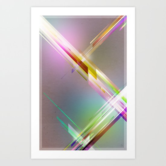Abstract Futuristic Poster Art Print