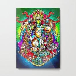 Rick and Mortyy Metal Print