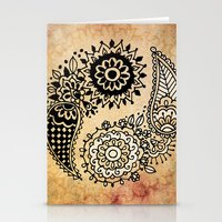 yin yang Stationery Cards featuring Yin Yang by Jenndalyn