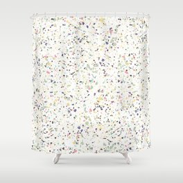 Classy vintage marble terrazzo pastel abstract design Shower Curtain