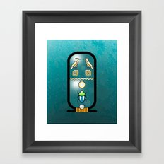Egyptian Cartouche Framed Art Print