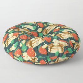 Healthy Pancake Breakfast Pattern Floor Pillow