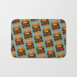 Double Cheeseburger Pattern Bath Mat