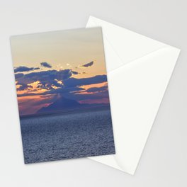 Mount Athos at Sunset Stationery Cards