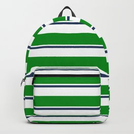 Sea Shanty (emerald and navy) Backpack
