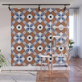 Moroccan Tile - poppy Wall Mural