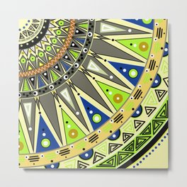 Ethnic tribal ornament 3 Metal Print