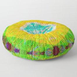 Mandala String Glitch Floor Pillow