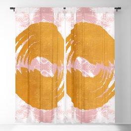 Ying Yang - Modern Batik Collage Gold Metal Blackout Curtain
