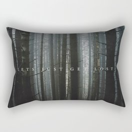 let's just get lost Rectangular Pillow