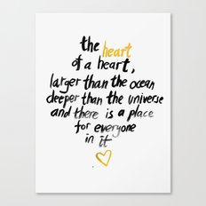 The Heart Of A Heart Canvas Print