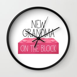 New Grandma On The Block Wall Clock