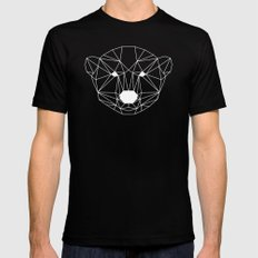 Bear Black MEDIUM Mens Fitted Tee